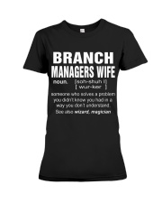 HOODIE BRANCH MANAGERS WIFE Premium Fit Ladies Tee thumbnail