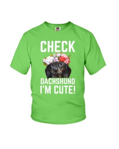 check dachshund i'm cute
