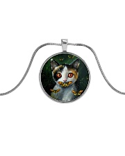 Necklace Bangle Cat Metallic Circle Necklace front