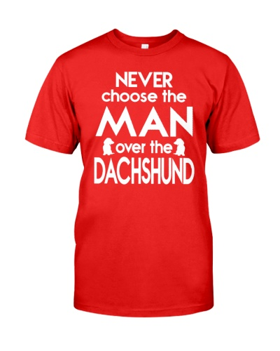 never choose the man over the dachshund