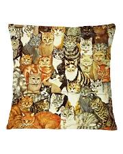 cat Square Pillowcase back