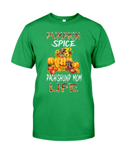 pumpkin spice dachshund mom life