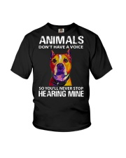 animals don't have a voice so you'll never stop Youth T-Shirt thumbnail