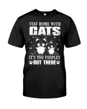 stay home with pitbulls it's too peopley out there Classic T-Shirt thumbnail