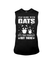stay home with pitbulls it's too peopley out there Sleeveless Tee thumbnail