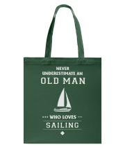 Old Man Loves Sailing Tote Bag thumbnail