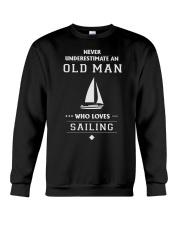 Old Man Loves Sailing Crewneck Sweatshirt thumbnail