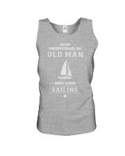 Old Man Loves Sailing Unisex Tank thumbnail