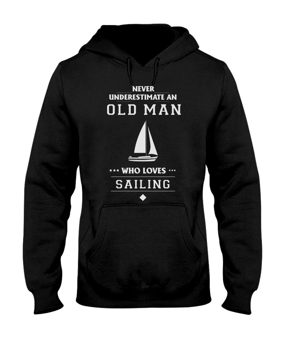 Old Man Loves Sailing Hooded Sweatshirt