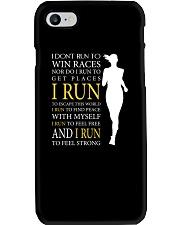 Running -  Run F R E E and STRONG - Female Version Phone Case thumbnail