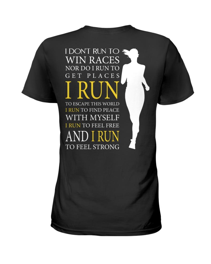 Running -  Run F R E E and STRONG - Female Version Ladies T-Shirt