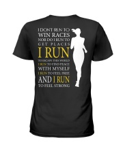 Running -  Run F R E E and STRONG - Female Version Ladies T-Shirt back