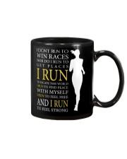 Running -  Run F R E E and STRONG - Female Version Mug thumbnail