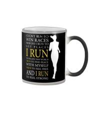 Running -  Run F R E E and STRONG - Female Version Color Changing Mug thumbnail