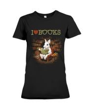 I LOVE BOOKS Premium Fit Ladies Tee thumbnail