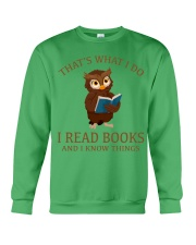 I READ BOOKS 10 Crewneck Sweatshirt front
