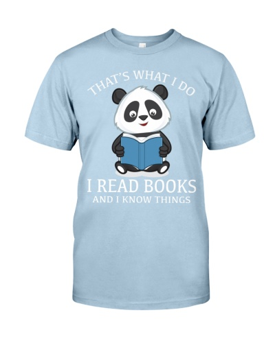 I Read Books And I Know Things - Panda