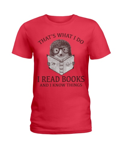HEDGEHOG- I READ BOOKS AND I KNOW THINGS