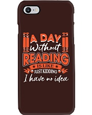 A DAY WITHOUT READING Phone Case thumbnail