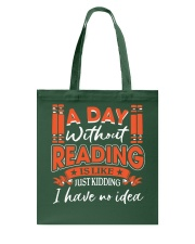A DAY WITHOUT READING Tote Bag thumbnail