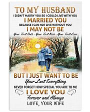 To my husband poster 11x17 Poster front