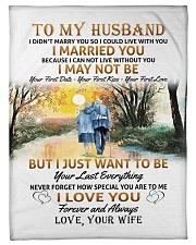 "To my husband poster Small Fleece Blanket - 30"" x 40"" thumbnail"