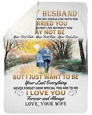 "To my husband poster Large Sherpa Fleece Blanket - 60"" x 80"" thumbnail"