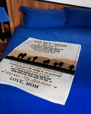 "To My Son Small Fleece Blanket - 30"" x 40"" aos-coral-fleece-blanket-30x40-lifestyle-front-02"