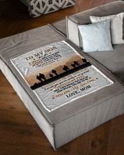 "To My Son Small Fleece Blanket - 30"" x 40"" aos-coral-fleece-blanket-30x40-lifestyle-front-03"
