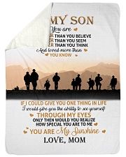 "To My Son Large Sherpa Fleece Blanket - 60"" x 80"" thumbnail"
