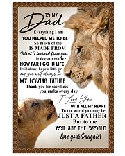 To my Dad 24x36 Poster thumbnail