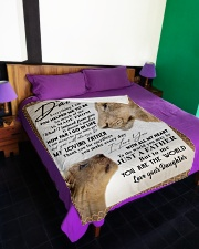 """To my Dad Large Fleece Blanket - 60"""" x 80"""" aos-coral-fleece-blanket-60x80-lifestyle-front-01"""