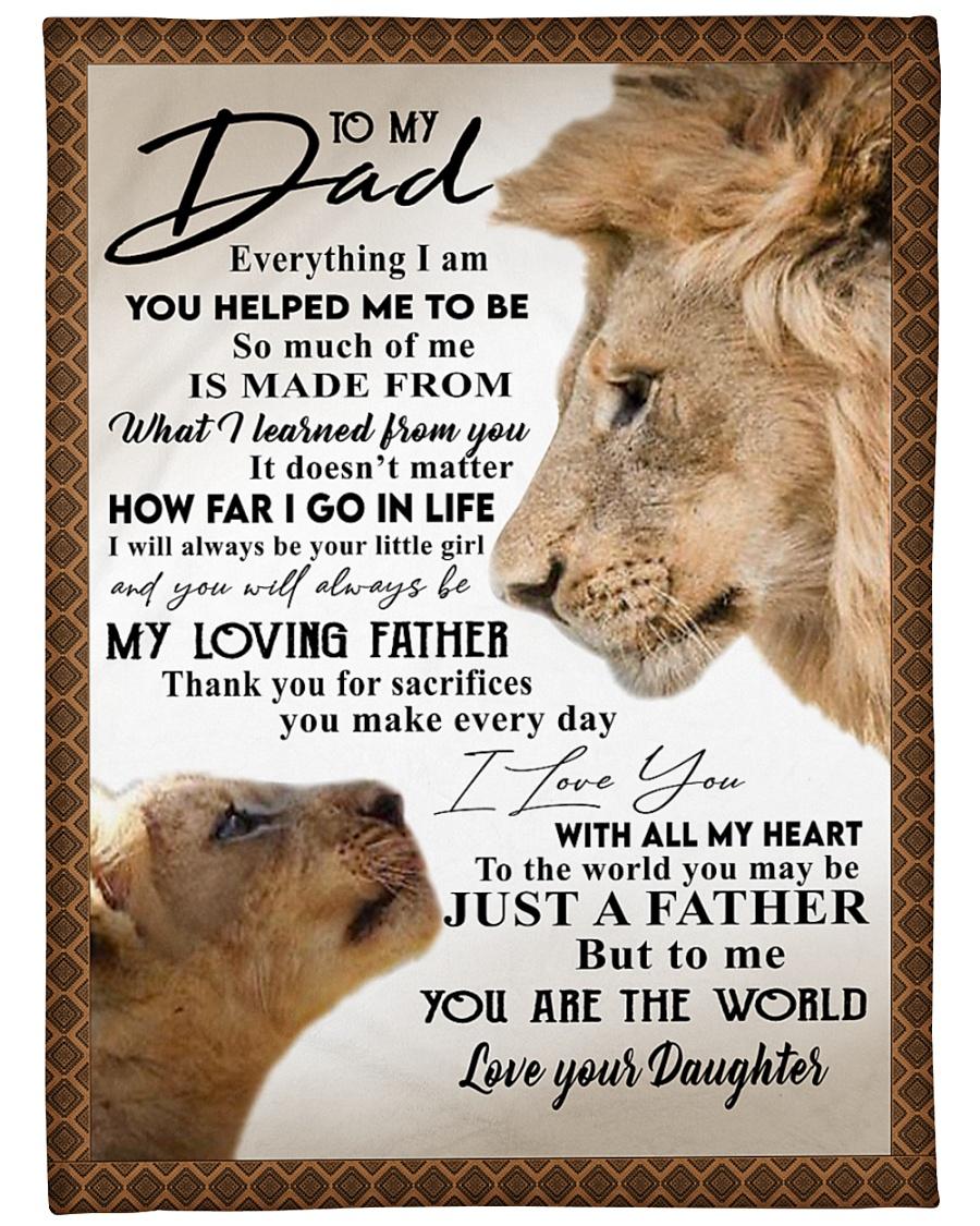 "To my Dad Large Fleece Blanket - 60"" x 80"""