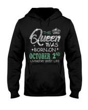 Queen was born on Octocber 2 Hooded Sweatshirt thumbnail