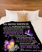 "An Meine Ehefrau Large Fleece Blanket - 60"" x 80"" aos-coral-fleece-blanket-60x80-lifestyle-front-02"