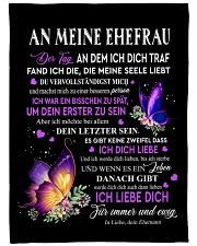 "An Meine Ehefrau Small Fleece Blanket - 30"" x 40"" thumbnail"
