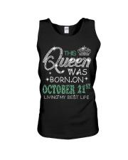 Queen was born on Octocber 21 Unisex Tank thumbnail