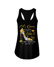 A Queen October 30 Ladies Flowy Tank thumbnail