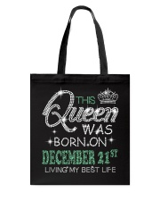 Queen was born on December 21 Tote Bag thumbnail