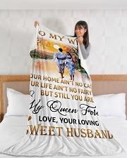 "To My Wife Large Fleece Blanket - 60"" x 80"" aos-coral-fleece-blanket-60x80-lifestyle-front-11"