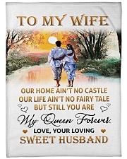 "To My Wife Large Fleece Blanket - 60"" x 80"" front"