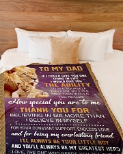 "To my Dad Large Fleece Blanket - 60"" x 80"" aos-coral-fleece-blanket-60x80-lifestyle-front-02"