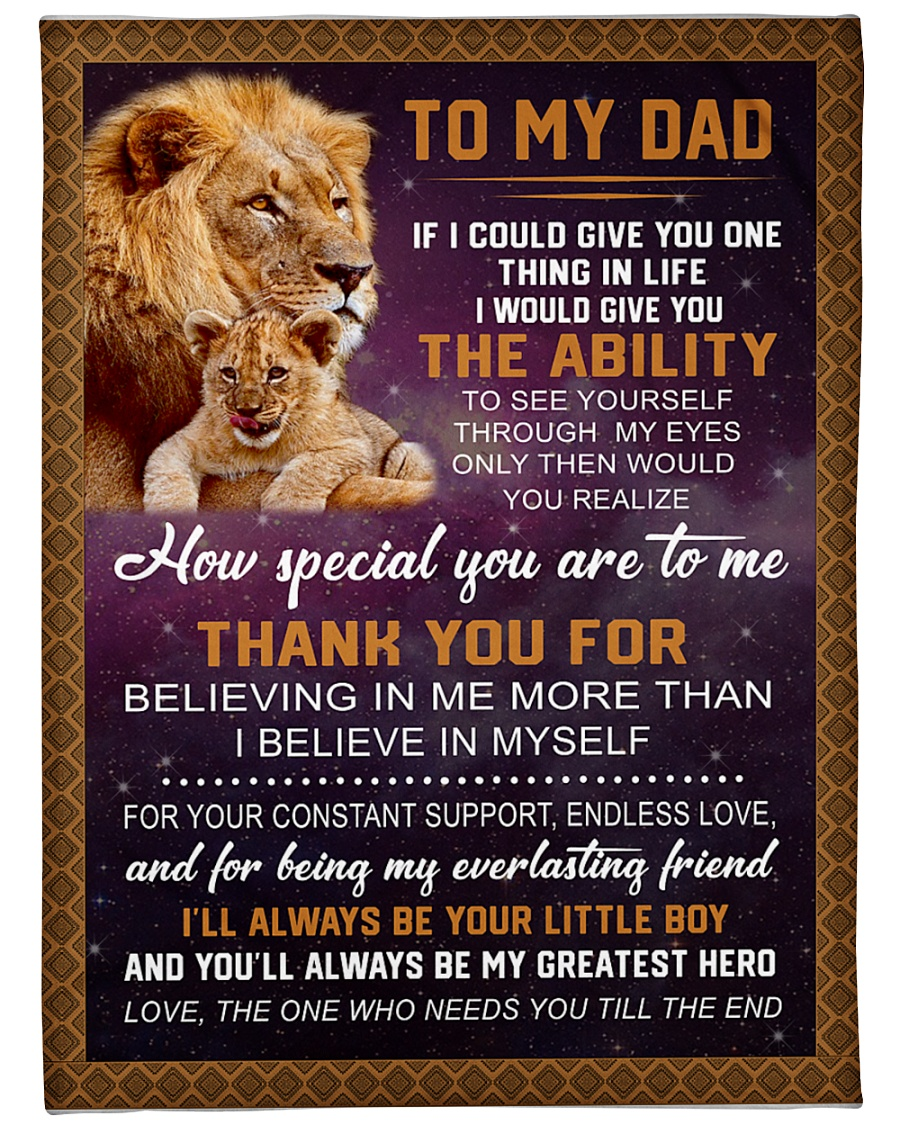 "To my Dad Large Fleece Blanket - 60"" x 80"""