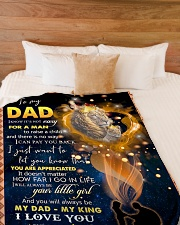 """To My Daddy Large Fleece Blanket - 60"""" x 80"""" aos-coral-fleece-blanket-60x80-lifestyle-front-02"""