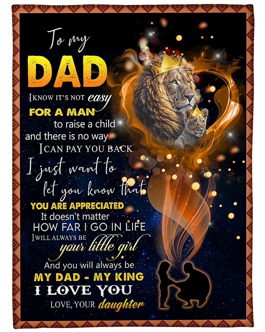 """To My Daddy Large Fleece Blanket - 60"""" x 80"""""""