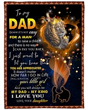 """To My Daddy Large Fleece Blanket - 60"""" x 80"""" front"""