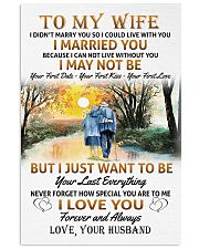 To My Wife poster 11x17 Poster front