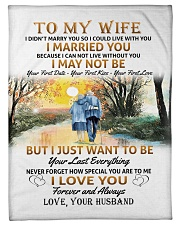 """To My Wife poster Small Fleece Blanket - 30"""" x 40"""" thumbnail"""