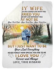 """To My Wife poster Large Sherpa Fleece Blanket - 60"""" x 80"""" thumbnail"""