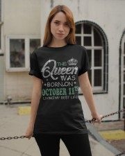Queen was born on Octocber 11 Classic T-Shirt apparel-classic-tshirt-lifestyle-19